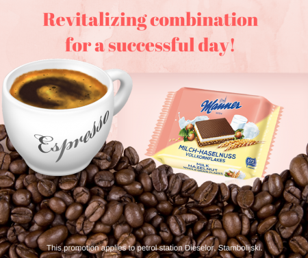 Promo Coffee espresso + Manner