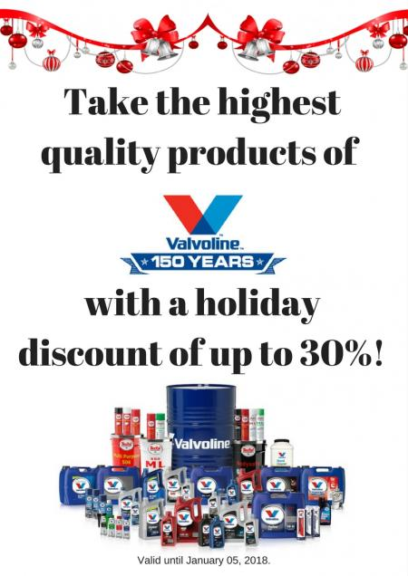 Up to 30% discount on Valvolin