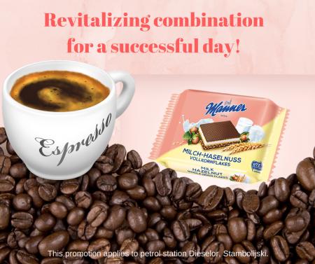 Promo Coffee espresso + Manner