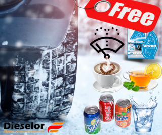 Winter with gifts from petrol statios Dieselor